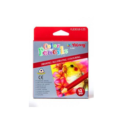 YALONG Small Color Pencils 12  (YL83018-12S)