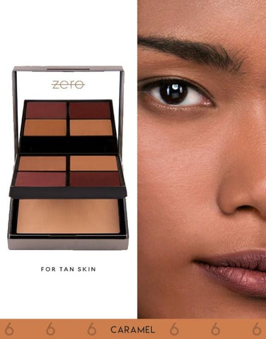 ZERO Makeup Face Perfecting Palette (Caramel) - Basics.Pk