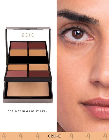 ZERO Makeup Face Perfecting Palette (Cream) - Basics.Pk