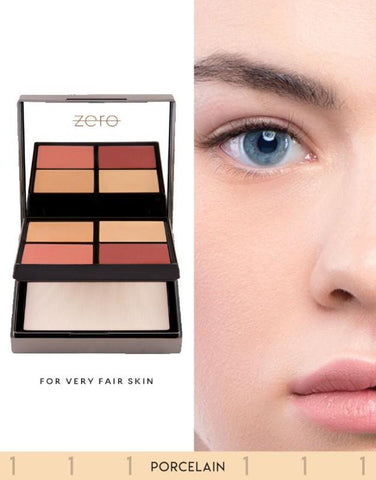 ZERO Makeup Face Perfecting Palette (Porcelain) - Basics.Pk