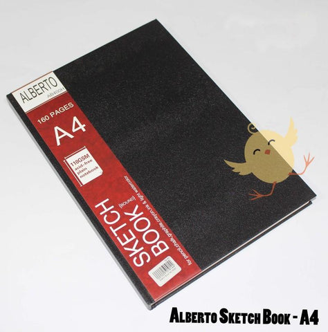Alberto Sketch Book Hard Bound A4 - Basics.Pk