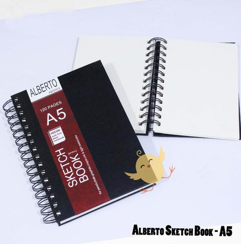 Alberto Sketch Book Hard Bound A5 - Basics.Pk