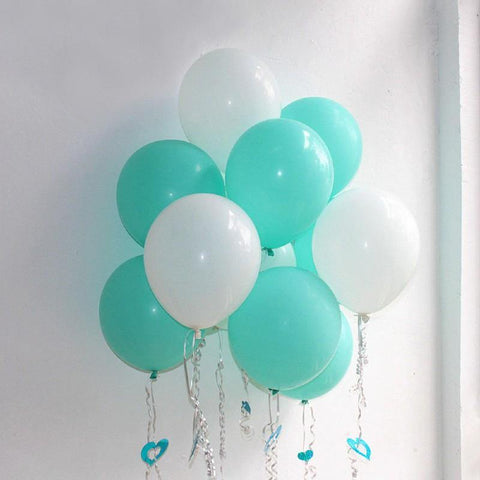 Balloons Plain Party Balloons Aqua Green (Single) - Basics.Pk
