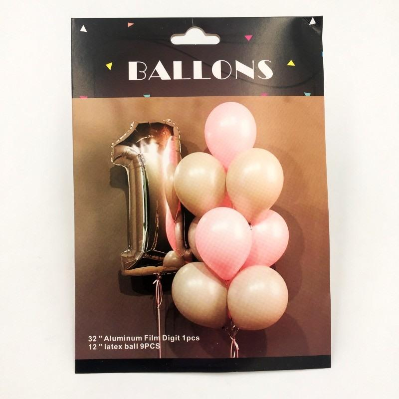 Balloons Silver Number 1 Pack of 10 - Basics.Pk