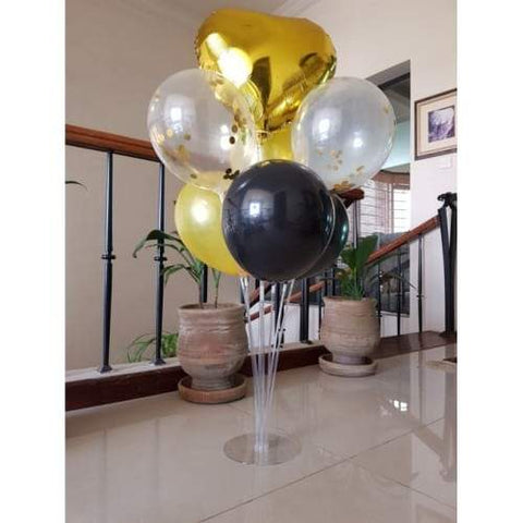 Balloons Stand Kit Black Golden - Basics.Pk