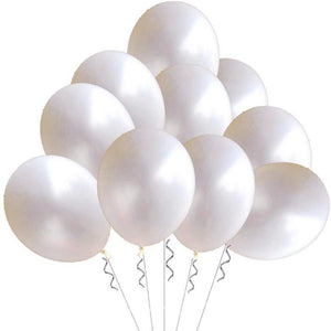 Balloons Plain Pearl White Single - Basics.Pk