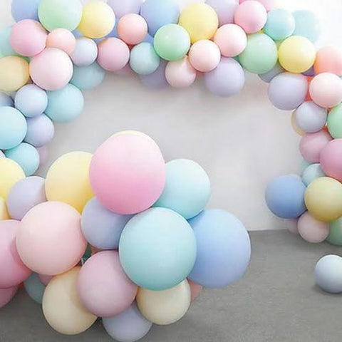 Balloons Milky Mix Color 12 inches (100Pcs) - Basics.Pk