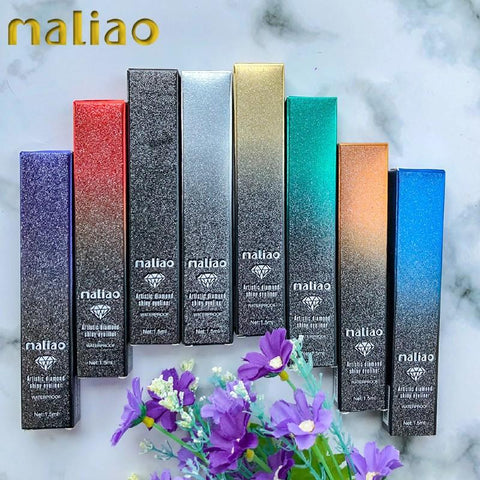 Maliao Artistic Diamond Shiny Eyeliner Waterproof (M-208) - Basics.Pk