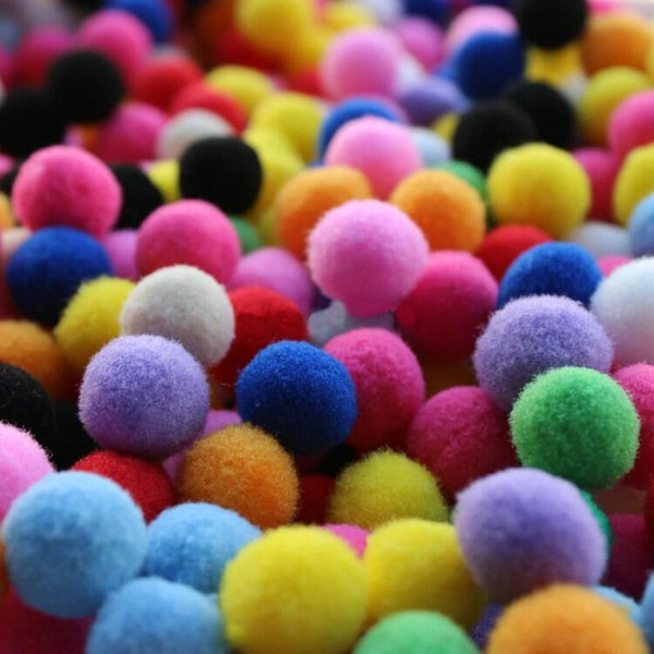Pom Poms Multi Color 20+ Small Cotton pack - Basics.Pk