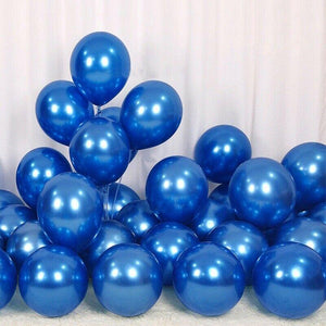 Balloons Plain Party Shiny Blue (Single) - Basics.Pk
