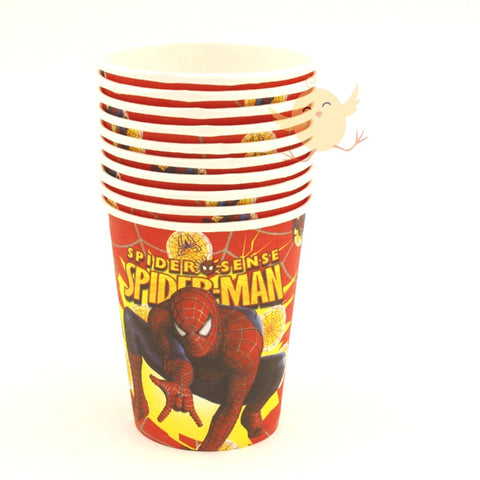 Cups Spiderman theme 10 Pcs