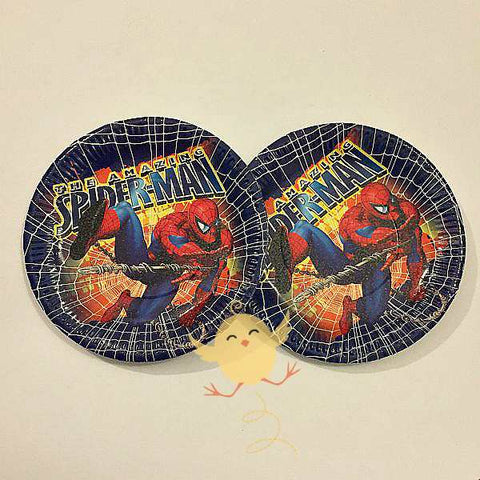 Plates (10 Small) Spider Man theme