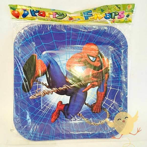 Plates (10 Small) SpiderMan theme - Basics.Pk