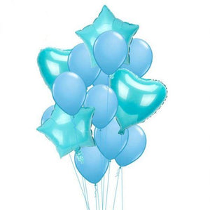 Balloons Foil & Latex Pack of 14 Blue (NO Confetti ) - Basics.Pk