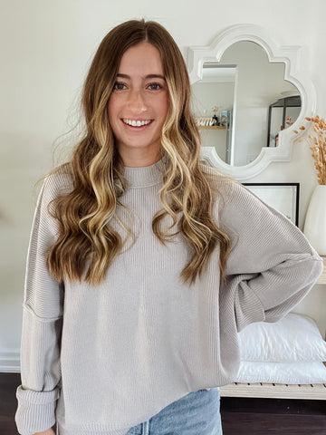 The Free People Easy Street Tunic in Grey