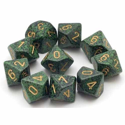Chessex - Speckled Golden Recon™ Polyhedral Ten d10 Sets CHX25135