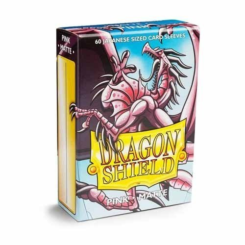 Dragon Shield - Deck Protector Japanese Matte Pink 60 pcs