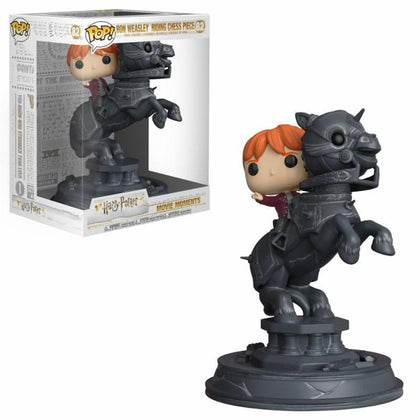 Harry Potter POP! Movie Moments Vinyl Figure Ron Riding Chess Piece 21 cm