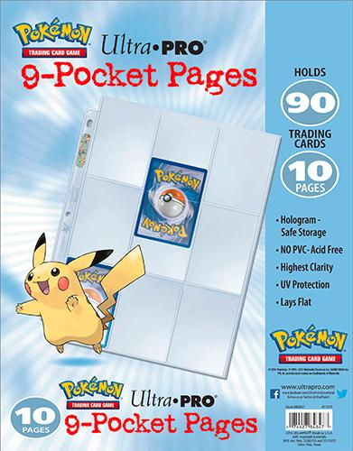 Ultra Pro 9-Pocket Pages Pokémon (10 Pagine)