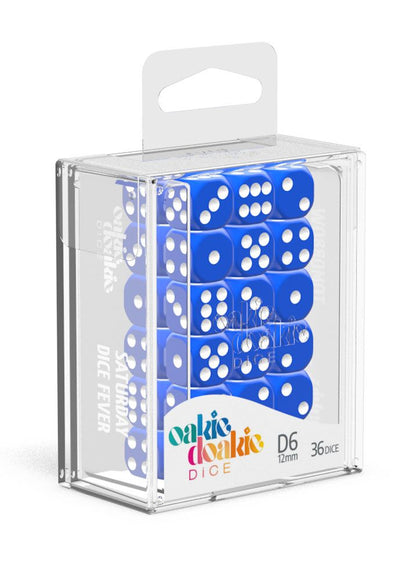 Oakie Doakie Dice D6 Dice 12 mm Solid - Blue (36)