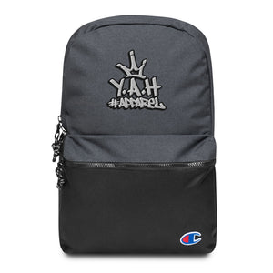 Y.A.H. Apparel Embroidered Champion Backpack