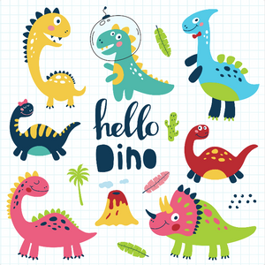 Dinos by Kate Diamond Painting Kit