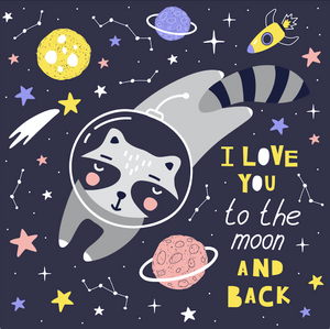 Love Moon Raccoon by Kate Diamond Painting Kit