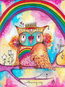Willowing Arts Rainbow Bird Diamond Painting Kit