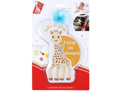 Sophie la girafe Flashing Baby on Board Car Sign with Suction Pad - Meats And Eats