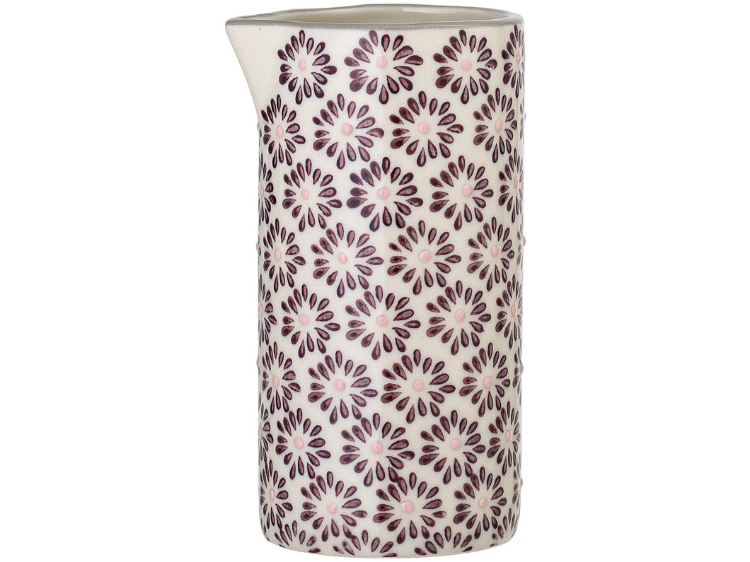 Maya Milk Jug, Purple, Stoneware - Meats And Eats