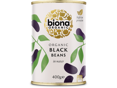 Biona Organic Black Beans in Water - Meats And Eats