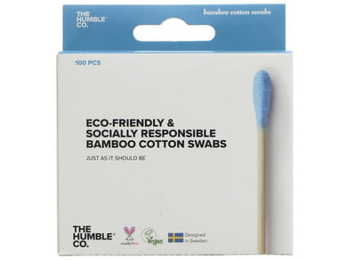 Humble Bamboo Cotton Swab Blue - Meats And Eats