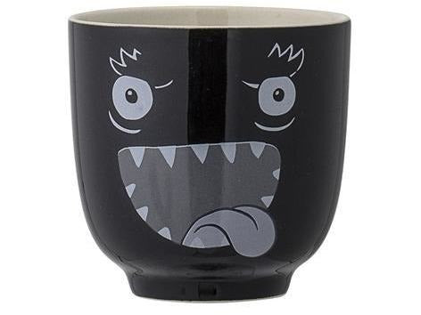 Monster Cup, Black, Stoneware - Meats And Eats