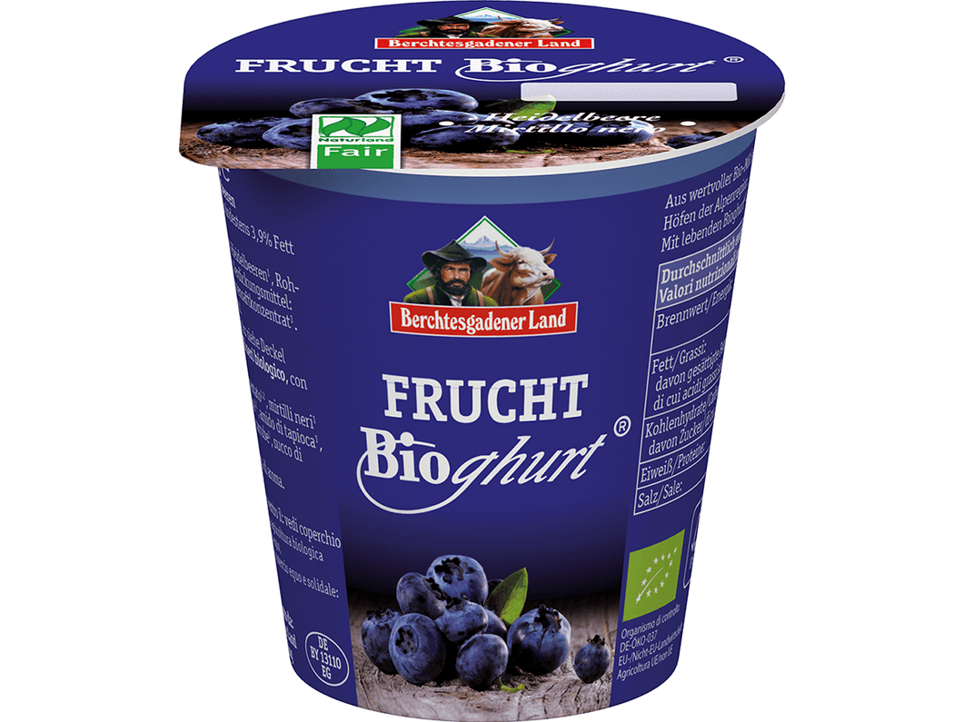 Organic Blueberry yoghurt , 3,9% fat, 150g - Meats And Eats