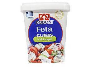 Dodoni Feta Cubes in Oil Net 350g - Meats And Eats