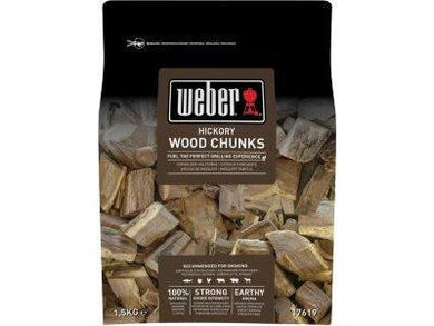 BBQ ACCS WEBER WOOD CHUNKS HICKORY 1.5KG - Meats And Eats