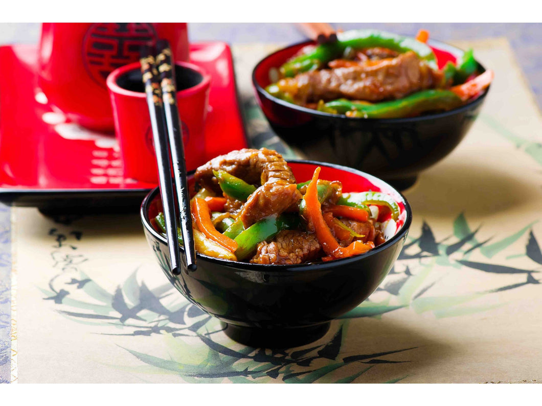 Fresh beef stir fry marinated with fresh bell peppers - Meats And Eats