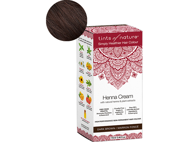 Tints Of Nature Henna Cream Dark Brown - Meats And Eats