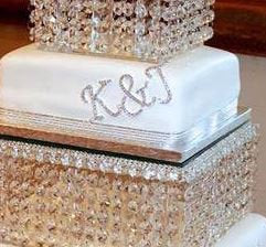 A to Z - Diamante Rhinestone Letters, Cake Topper, Wedding Initials, Silver cake topper,rhinestone cake decorations.