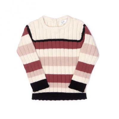 Stripped ribbed sweater