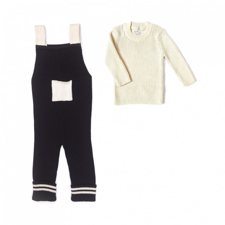 Set Brook ribbed jumpsuit + sweater