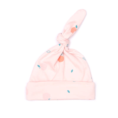 PEACH PINK KNOT HAT
