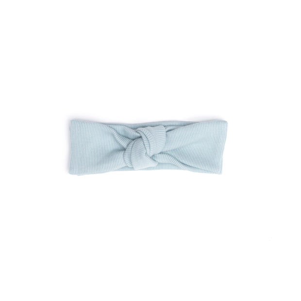 LIGHT BLUE RIBBED HEADBAND