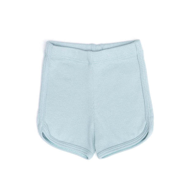 LIGHT BLUE RIBBED SHORT