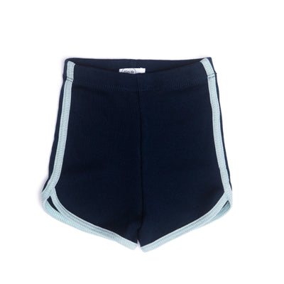 NAVY & LIGHT BLUE RIBBED SHORT