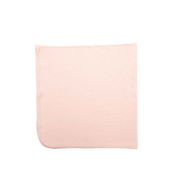 SHELL PINK  RIBBED BLANKET