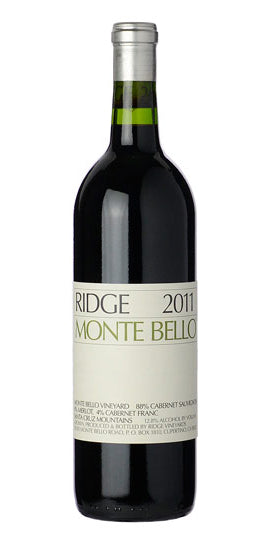 Ridge Vineyards Monte Bello 2011