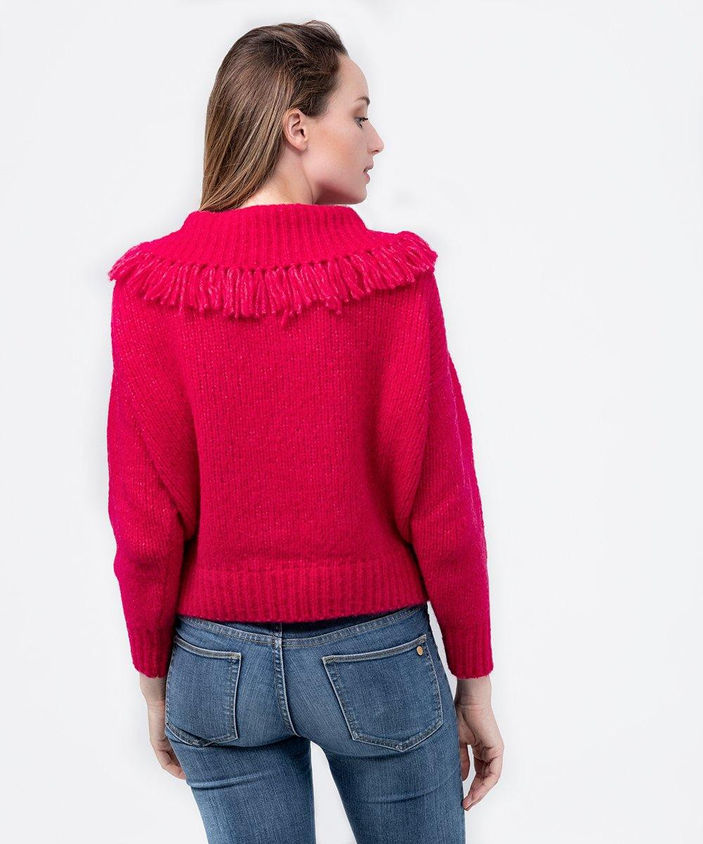 Red Turtleneck Alpaca sweater - Be ALPACA