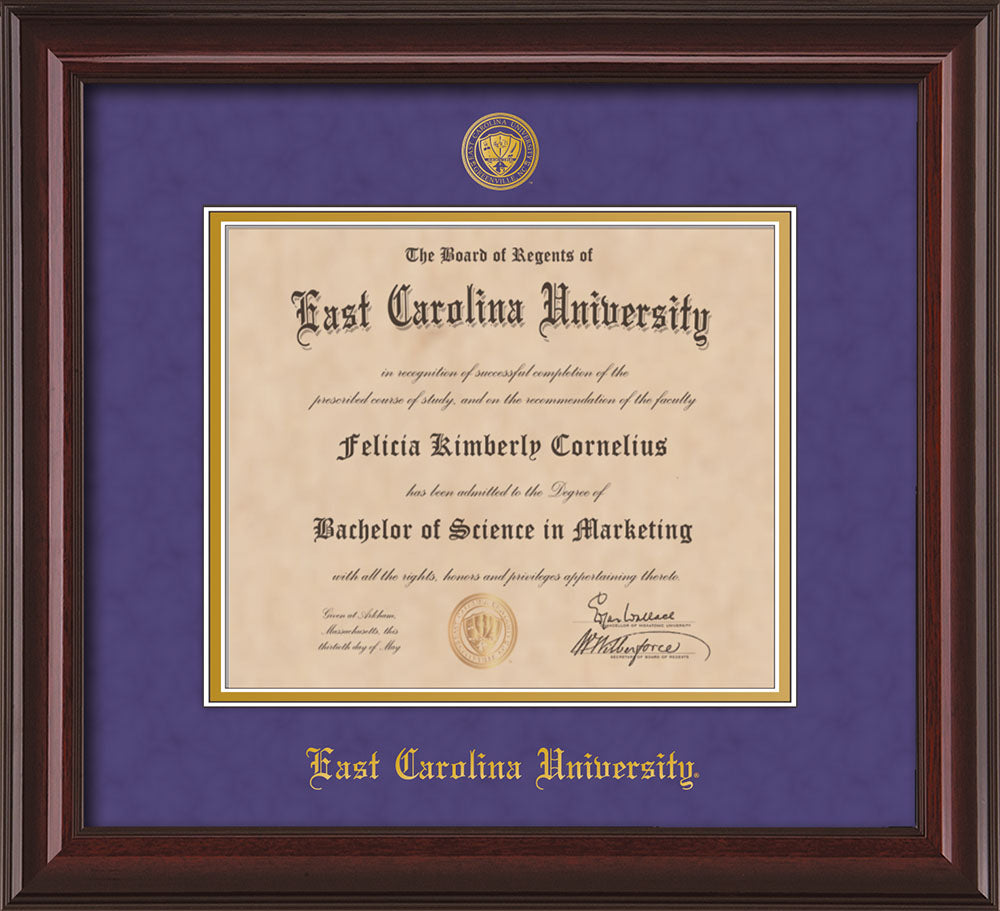 East Carolina University Seal Single Opening