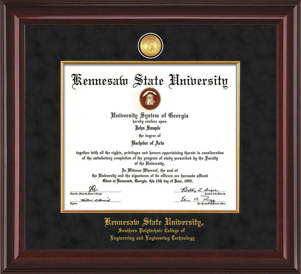 Kennesaw State University Medallion Fillet Southern Polytechnic College of Engineering